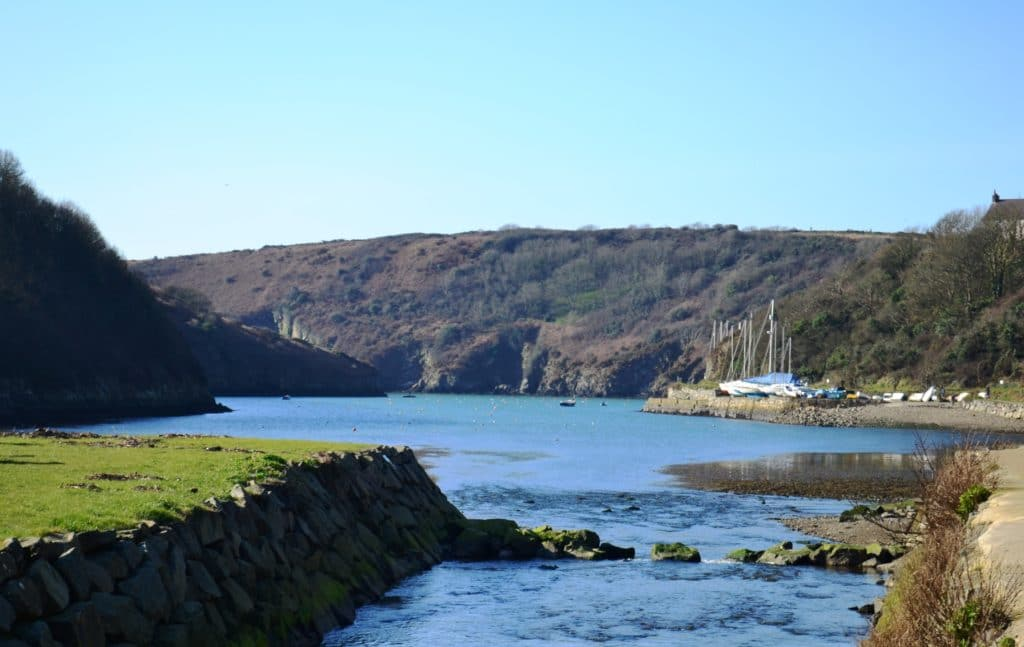 Solva harbour at dusk