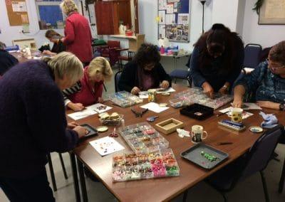 Mosaic class at Solva Memorial Hall