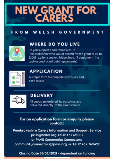 New grant for carers from Welsh Government