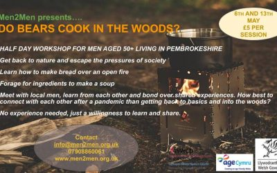 Workshop for men (50+) living in Pembrokeshire – 6th and13th May